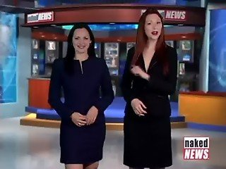 Naked News Vic & Kat: Guess who isn't wearing a bra!