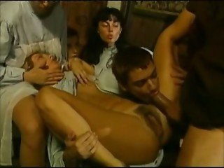 Horny Italian MILFS ravage one huge cock