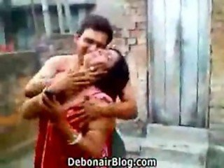 Naughty devar kissing his bhabhi MMS