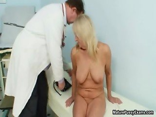 Dirty old doctor inspecting