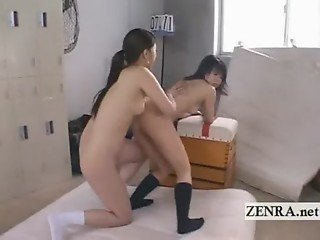 Weird Japanese nudist futanari dickgirl anus licking
