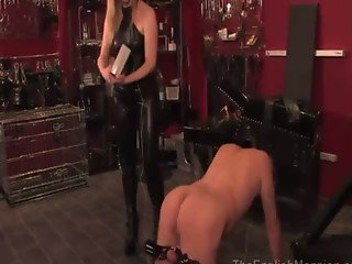 Prodomme using shocking cbt tactics on her useless subject