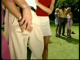 Group sex during golf party