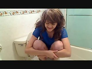 Cute Girl Farting And Pooping