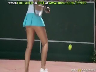Hot Sex With Blonde Britney Amber On Tennis Court