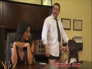 Boss Have got Two Secretary Kaylani Lei Amia Miley