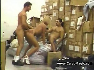 Sexy Secretary Gets Fucked By Two Bosses