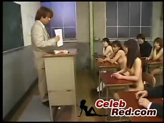 Class at Japanese Classroom Full Of Naked Schoolgirls End Up With Orgy class