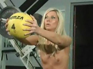 Naked Training with Angie watch her squat and push