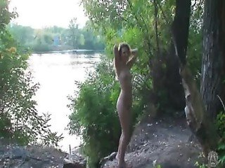 Amateur nudist outdoors