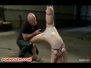 Hogtied Slave Melody BDSM in Bondage