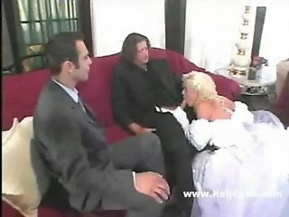 beautiful bride threesome