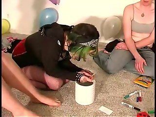 Reality teen amateurs at a party get wild and naked