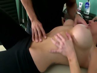 Sexy slut gets titty and throat fucked by lucky guy