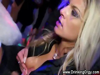 Horny pornstars throat and titty fucked at hot dance party