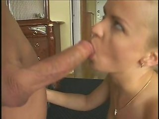 Blonde gets anal with huge cock
