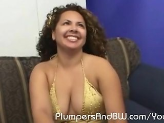 Eager BBW beaver came back for more