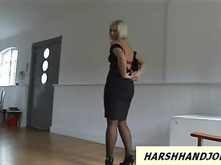 Anna Joy loves to give harsh handjob to pervert