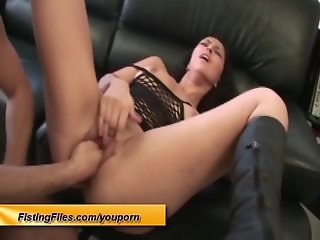 her first anal fist video tape
