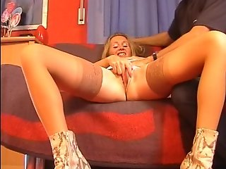 Lucy likes sex with her snakeskin boots on Pt. 2/4