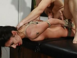 NIKKI DANIELS GET TIED UP AND FUCKED