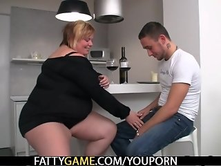 Hot BBW sex after a bottle of wine