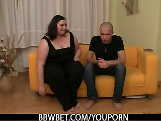 He picks up BBW and bangs her hard