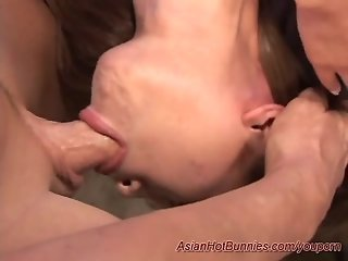 young asians first deepthroat
