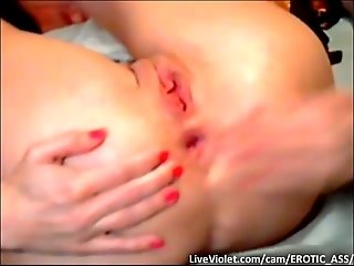 Freaky amateur FISTING on webcam