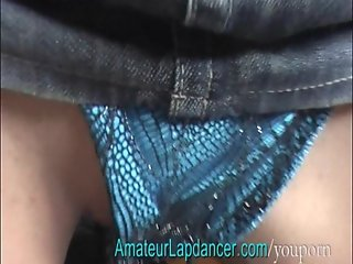 Student in miniskirt, strips and gets spanked