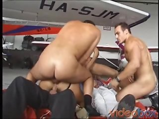Horny Chick Banged By Group Of Hard Studs