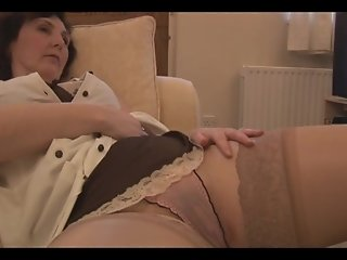 Busty mature milf panty tease and striptease