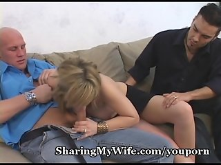 Lustful Wife Sharing Her Pussy