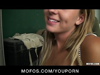 BUSTY BLONDE CHEATING COLLEGE TEEN CAUGHT FUCKING