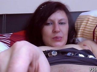 Denisa wide open pussy gaping close-ups gyno tool