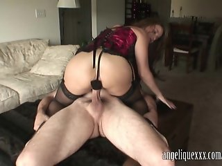 Angelique Blowjob Buttplug and Sex