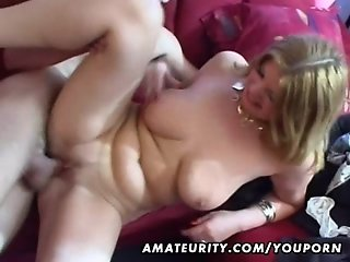 Busty amateur Milf anal hardcore with cumshot