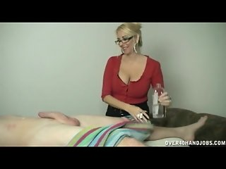 Blond milf milking a big cock