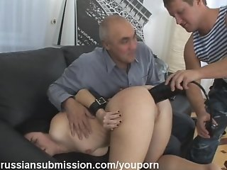 A beauty is turned into a mess after humiliating ass and face fucking