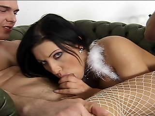 moaning and sexually charged babe leaves no cock uncovered