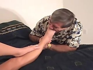 man loves to sniff and lick those sexy young feet