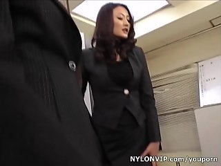 School teachers in pantyhose footjobs threesome