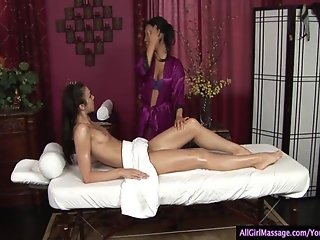 Amazing Girl/Girl Massage with a Happy Ending