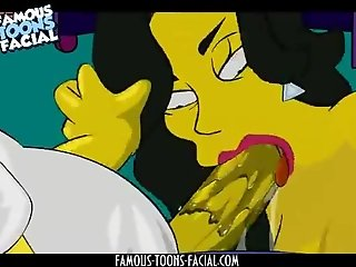 Homer gets a threesome blowjob