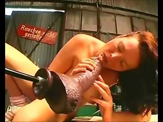 Hot german Sofia gets fucked hard by a machine