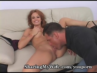 Redheaded Wife's Pussy Pounded