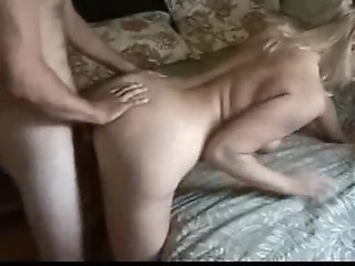 Real amateur milf fucks young guy