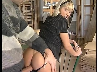 Sweet German blonde fucked