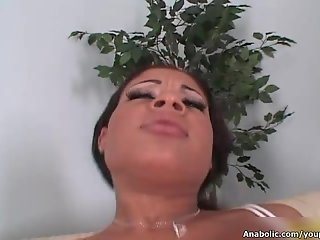 Hot ebony whore rides an hard cock with her horny wet cunt