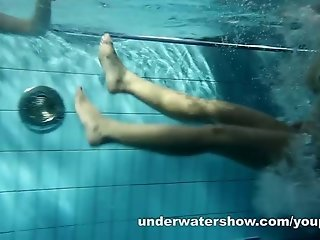 Zuzanna And Lucie Stripping And Playing Underwater